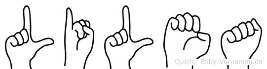 Lilea in Fingersprache für Gehörlose