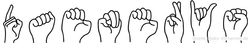 Daenerys im Fingeralphabet der Deutschen Gebärdensprache