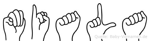 Miala in Fingersprache für Gehörlose
