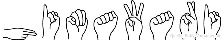 Himawari im Fingeralphabet der Deutschen Gebärdensprache