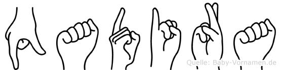 Qadira in Fingersprache für Gehörlose