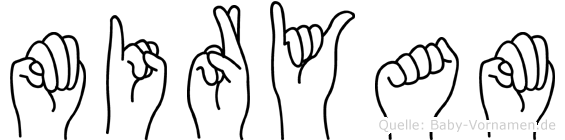 Miryam im Fingeralphabet der Deutschen Gebärdensprache