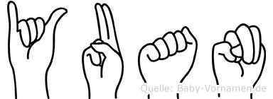 Yuan in Fingersprache für Gehörlose