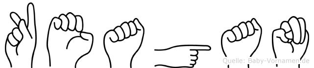 Keagan in Fingersprache für Gehörlose