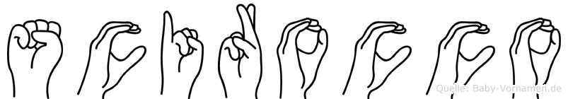 Scirocco in Fingersprache für Gehörlose