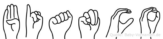 Bianco im Fingeralphabet der Deutschen Gebärdensprache