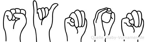 Symon in Fingersprache für Gehörlose