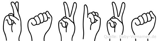 Raviva im Fingeralphabet der Deutschen Gebärdensprache