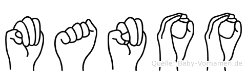 Manoo in Fingersprache für Gehörlose