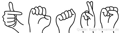 Tears in Fingersprache für Gehörlose