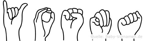 Yosma im Fingeralphabet der Deutschen Gebärdensprache