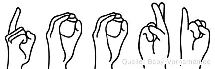 Doori im Fingeralphabet der Deutschen Gebärdensprache