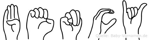 Bency in Fingersprache für Gehörlose