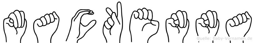 Mackenna im Fingeralphabet der Deutschen Gebärdensprache