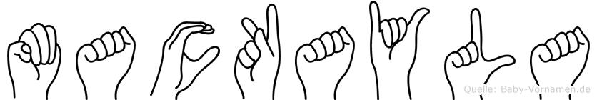 Mackayla im Fingeralphabet der Deutschen Gebärdensprache