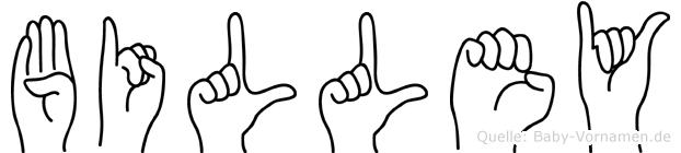 Billey in Fingersprache für Gehörlose