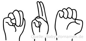 Nue in Fingersprache für Gehörlose
