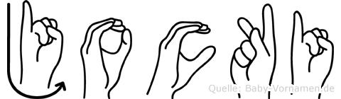 Jocki in Fingersprache für Gehörlose
