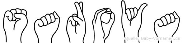 Saroya im Fingeralphabet der Deutschen Gebärdensprache