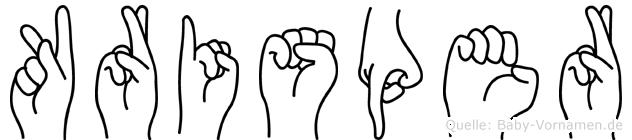 Krisper in Fingersprache für Gehörlose