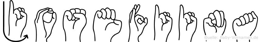 Josefiina in Fingersprache für Gehörlose