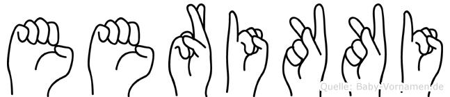 Eerikki in Fingersprache für Gehörlose