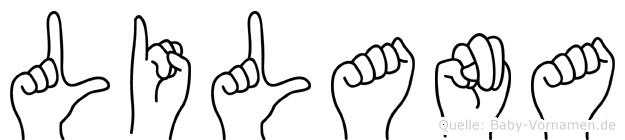 Lilana in Fingersprache für Gehörlose