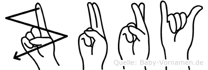Zury in Fingersprache für Gehörlose