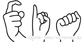 Xia in Fingersprache für Gehörlose