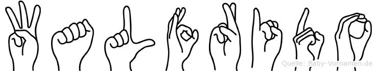 Walfrido in Fingersprache für Gehörlose
