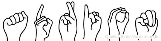Adrion im Fingeralphabet der Deutschen Gebärdensprache