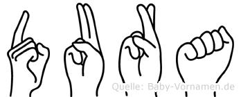 Dura in Fingersprache für Gehörlose