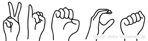 Vieca im Fingeralphabet der Deutschen Gebärdensprache