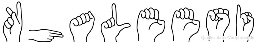 Khaleesi in Fingersprache für Gehörlose