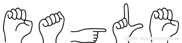 Eagle in Fingersprache für Gehörlose
