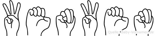 Wenwen im Fingeralphabet der Deutschen Gebärdensprache