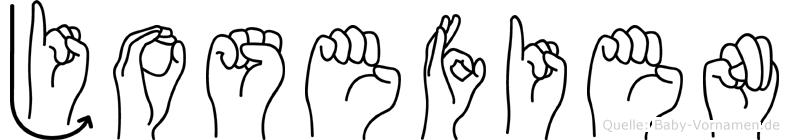 Josefien im Fingeralphabet der Deutschen Gebärdensprache