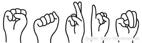 Sarin in Fingersprache für Gehörlose