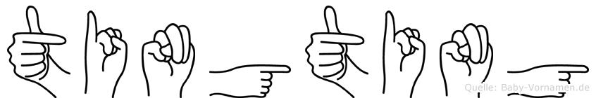 Tingting im Fingeralphabet der Deutschen Gebärdensprache