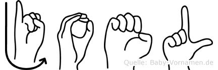 Joel in Fingersprache für Gehörlose