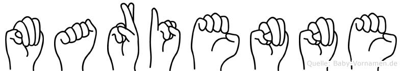 Marienne im Fingeralphabet der Deutschen Gebärdensprache