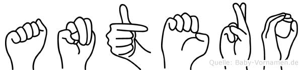Antero in Fingersprache für Gehörlose