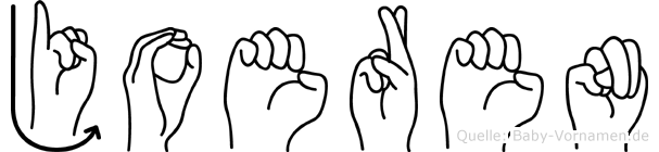 Joeren in Fingersprache für Gehörlose