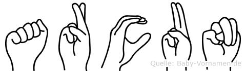 Arcun im Fingeralphabet der Deutschen Gebärdensprache