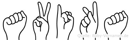 Avika in Fingersprache für Gehörlose