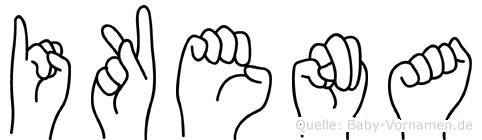 Ikena in Fingersprache für Gehörlose