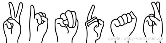 Vindar im Fingeralphabet der Deutschen Gebärdensprache