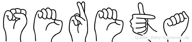 Sereta in Fingersprache für Gehörlose