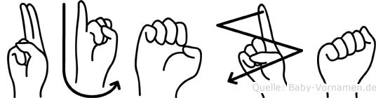 Ujeza im Fingeralphabet der Deutschen Gebärdensprache