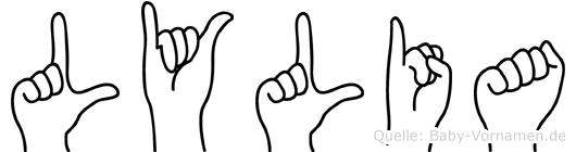 Lylia in Fingersprache für Gehörlose